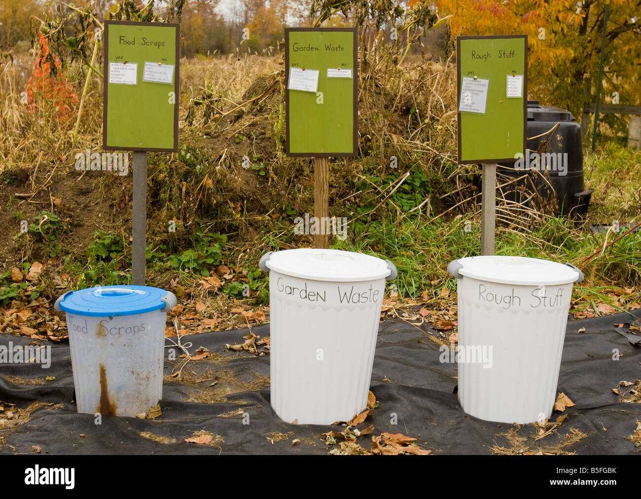 Containers to separate organic waste - Stock Image