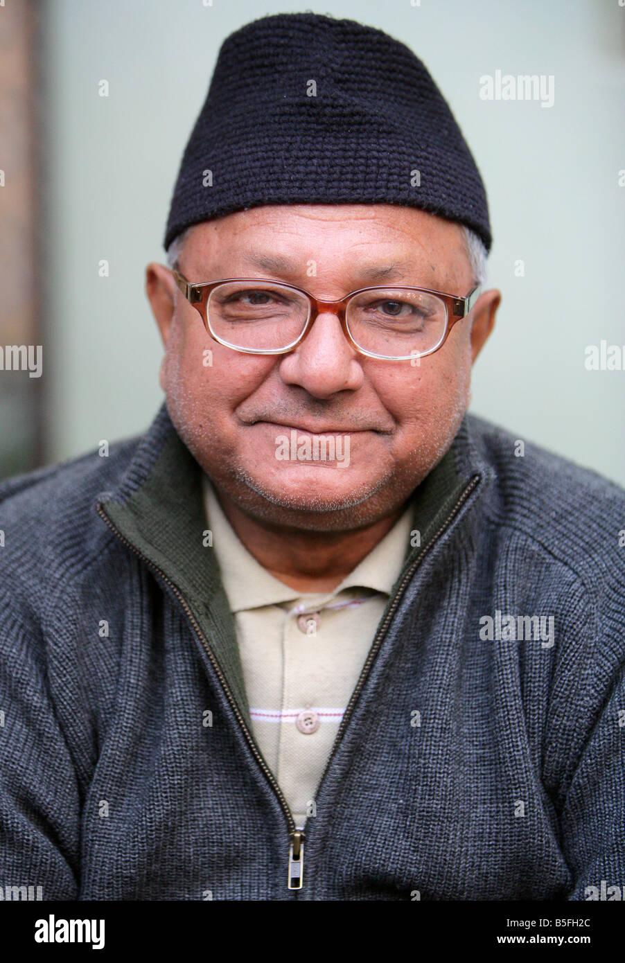 Bischop Anthony Sharma (70) roman catholic Bishop of Kathmandu - Stock Image