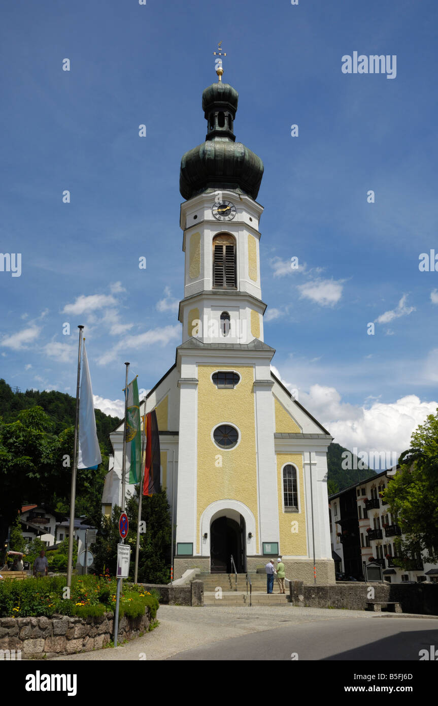 Reit im Winkl church, Bavaria, Germany - Stock Image