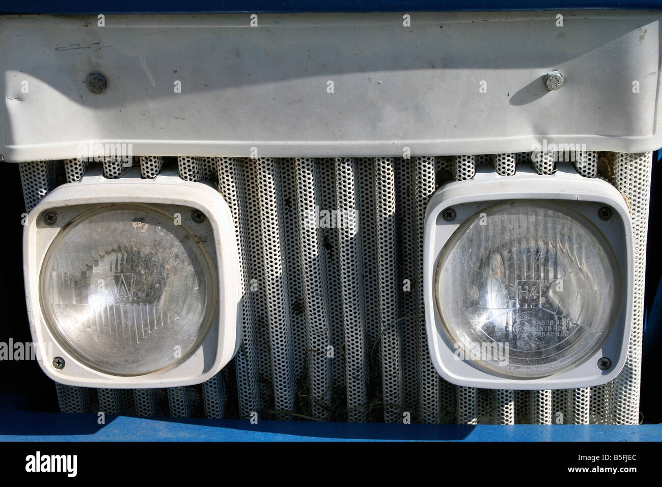 Tractor headlights - Stock Image