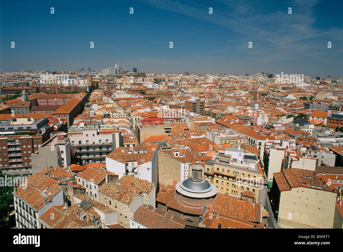 Spain - Madrid - View of the old city - Stock Image