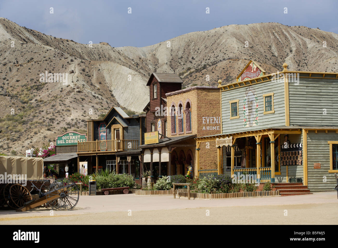 Spaghetti Western film set at Oasys Mini Hollywood, Tabernas, Almeria, Spain - Stock Image