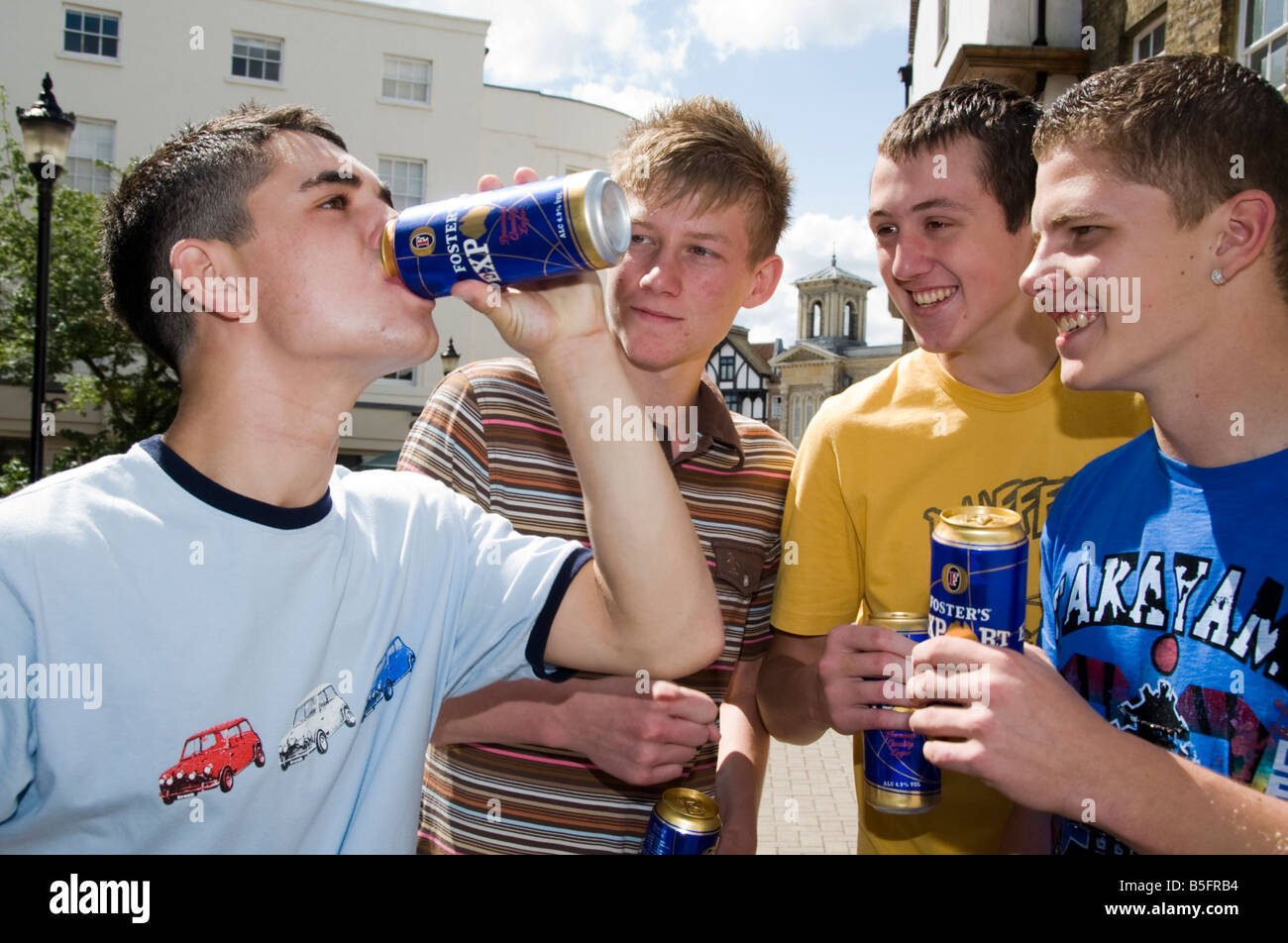 Alamy Teenage Photo Of Boys Cans - Stock 20631272 Drinking Group Beer