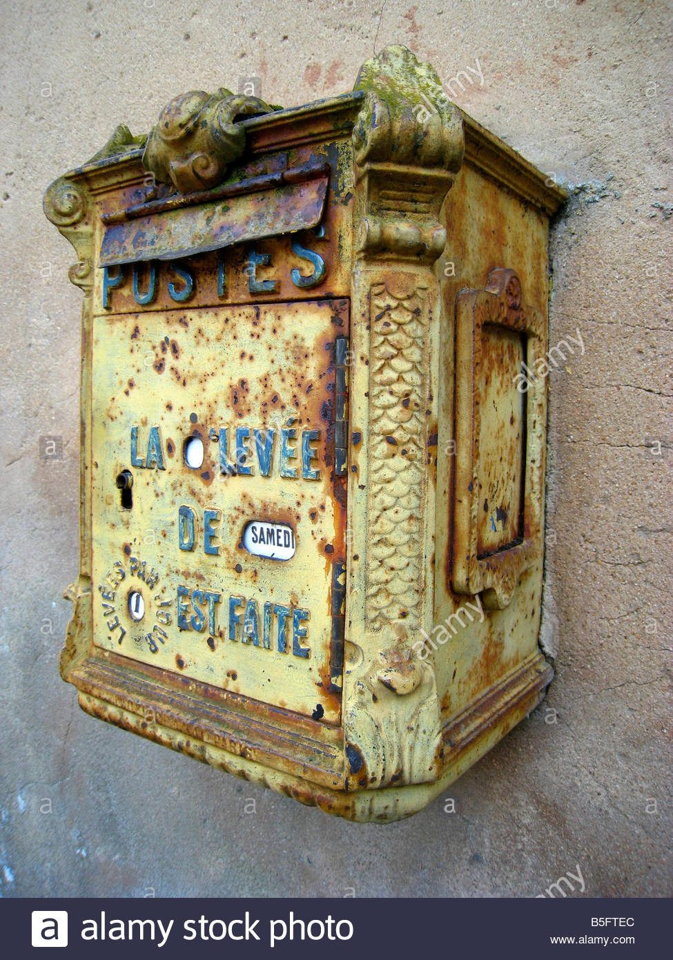 Old French Mailbox Stock Photos & Old French Mailbox Stock Images ...