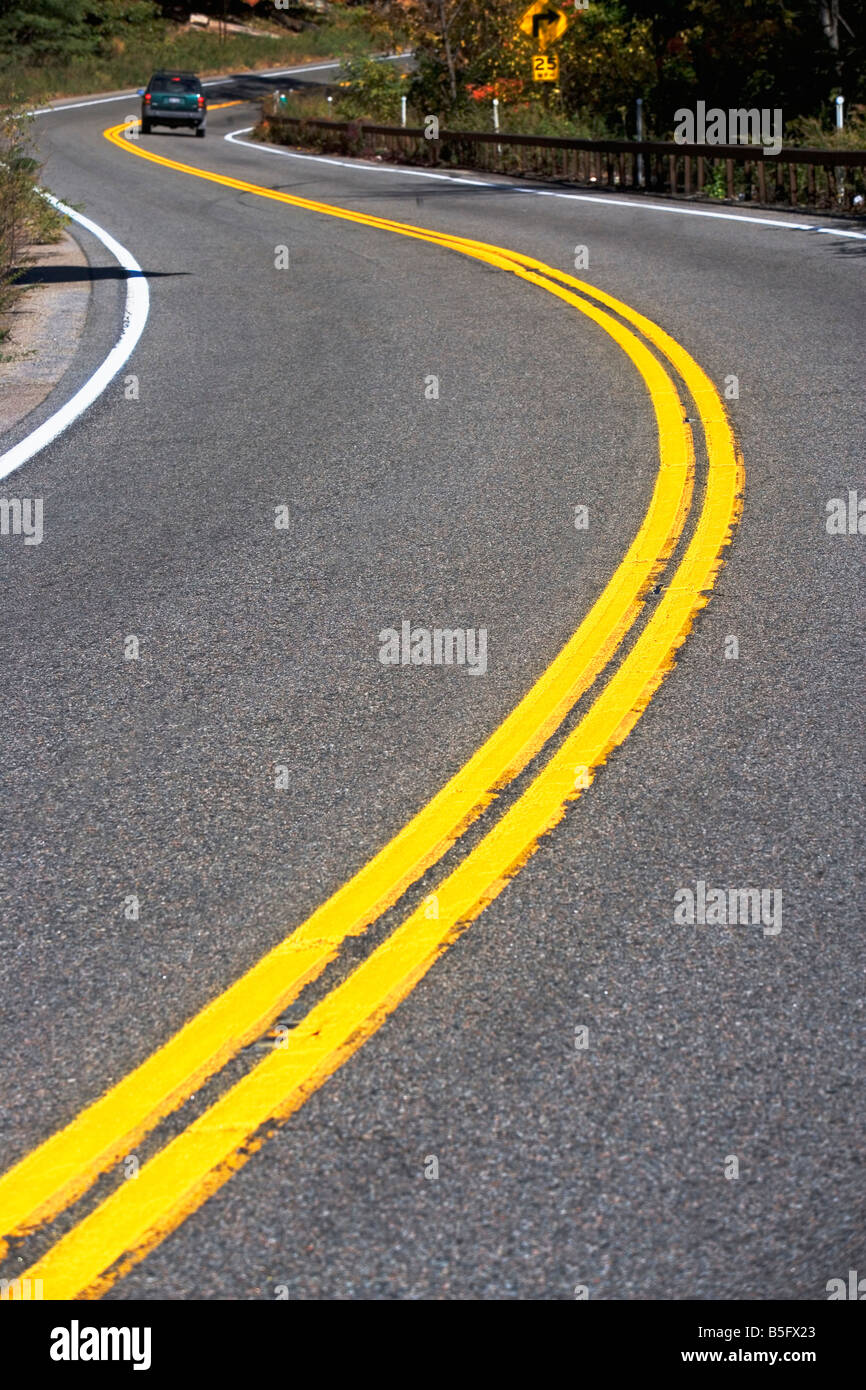 ahead, Aid, Arrow, Asphalt, code, Curve, Curved, Deserted, Direction, Empty, Empty, Road, Highway, Highway, Code, - Stock Image