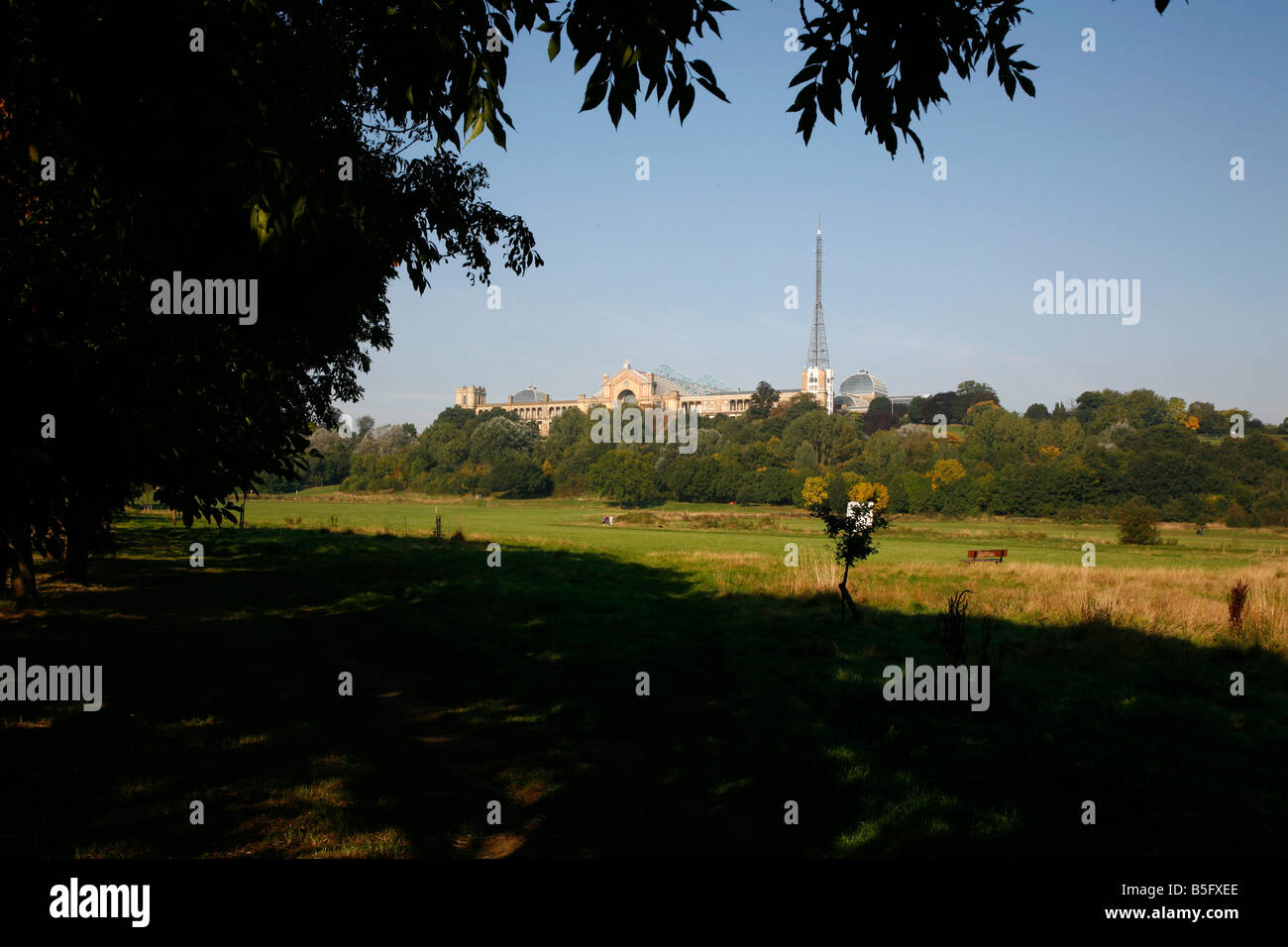 Alexandra Palace in Alexandra Park, Wood Green, London - Stock Image