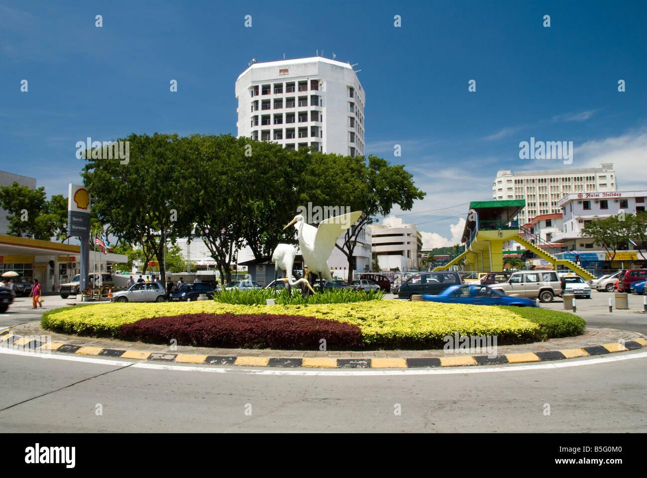 Kota Kinabalu City Scene Stock Photo