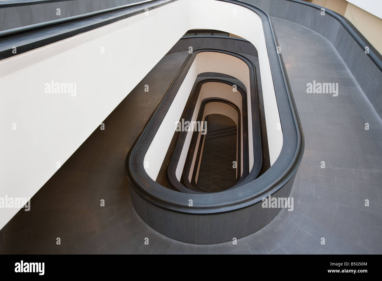 Spiral Ramp Vatican Museum Rome Italy - Stock Image
