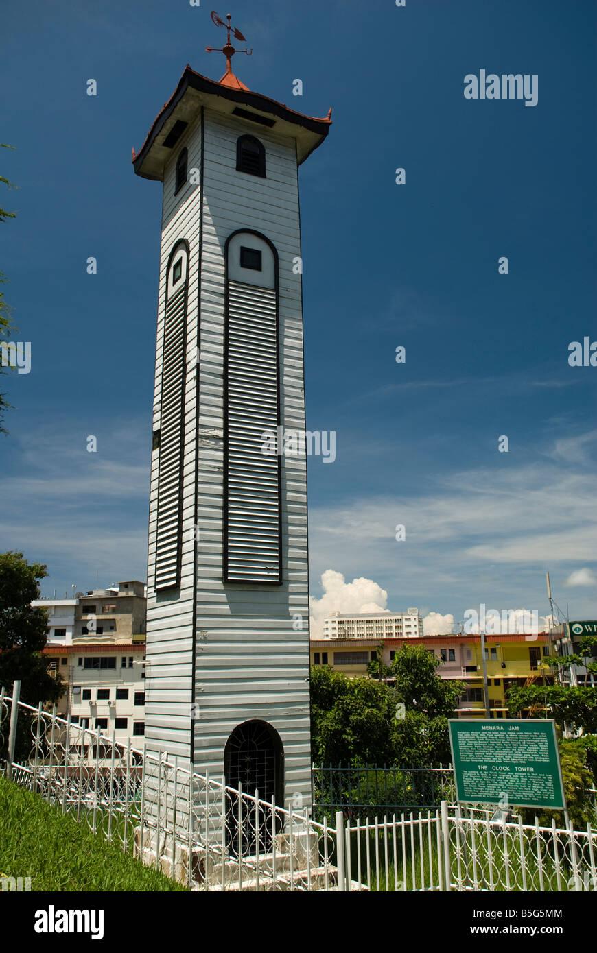 The Clock Tower Kota Kinabalu - Stock Image