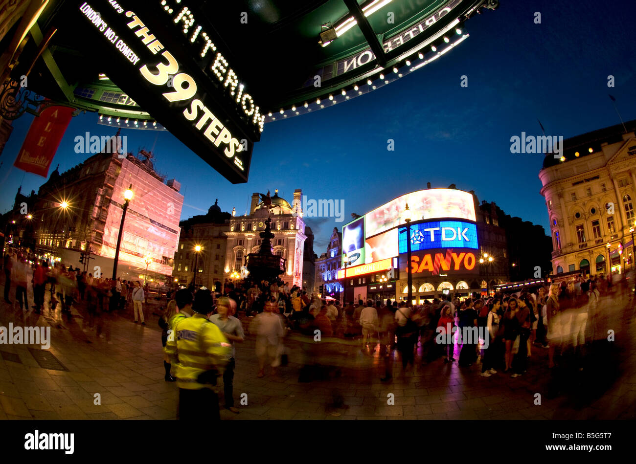 Piccadilly Circus is a famous road junction and public space of London s West End in the City of Westminster Piccadilly - Stock Image