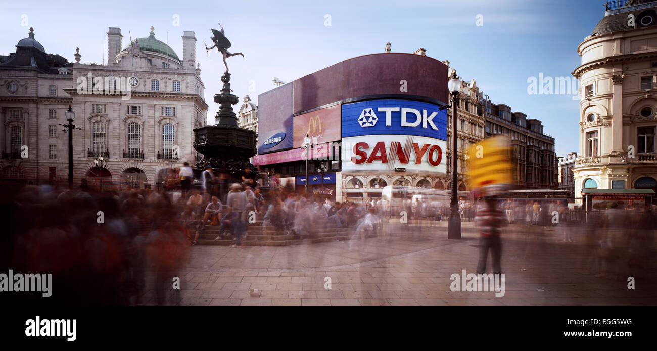 Picadilly Circus London underground station west end England - Stock Image