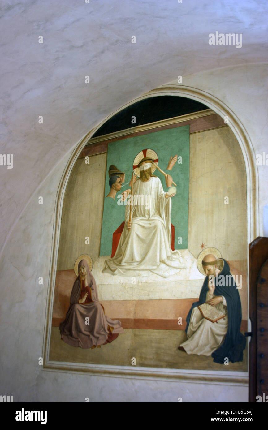 Fresco, San Marco monastery, Florence, Italy Stock Photo: 20639546 ...