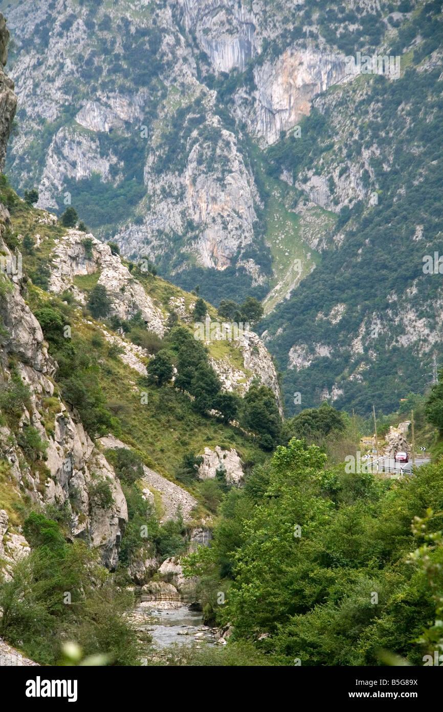 The Picos de Europa near Potes Liebana Cantabria northwestern Spain - Stock Image