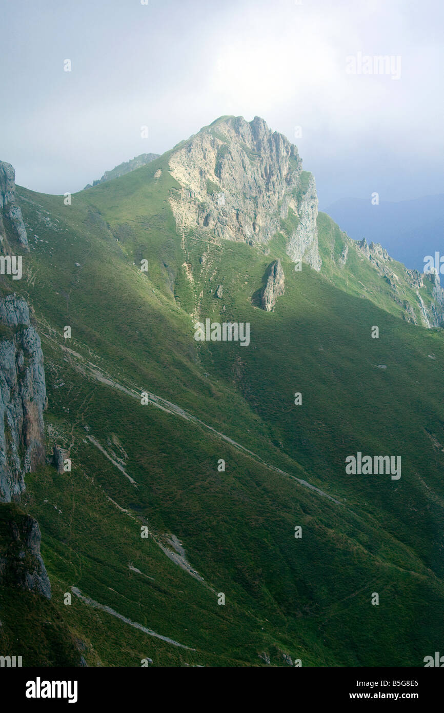 Picos de Europa at Fuente De Liebana Cantabria northwestern Spain - Stock Image