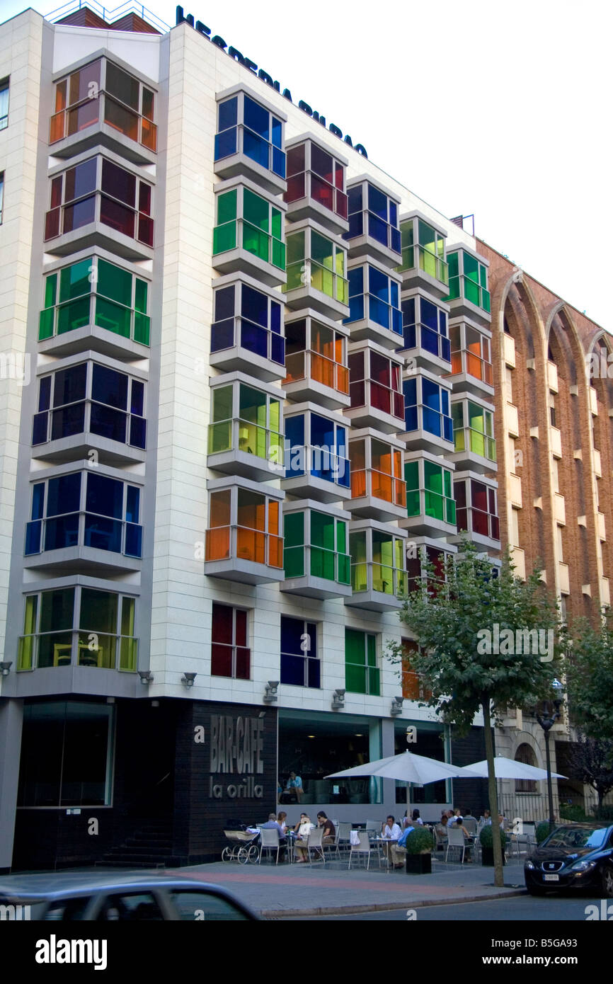 The Hesperia Bilbao Hotel in the old quarter of the city of Bilbao Biscay Basque Country northern Spain Stock Photo