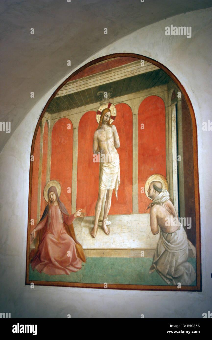 Fresco, San Marco monastery, Florence, Italy Stock Photo: 20646006 ...
