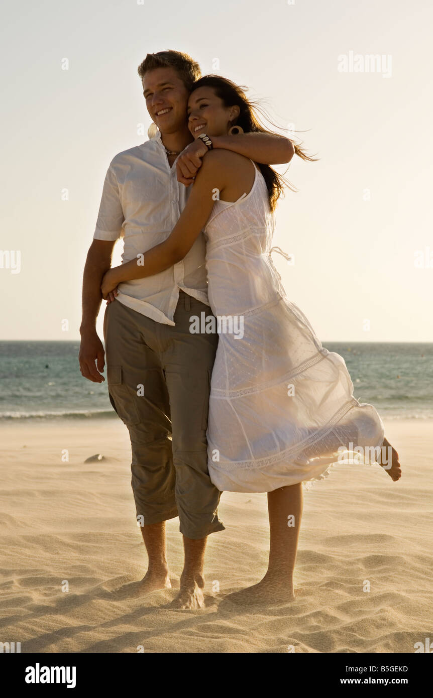young lovers on holiday - Stock Image