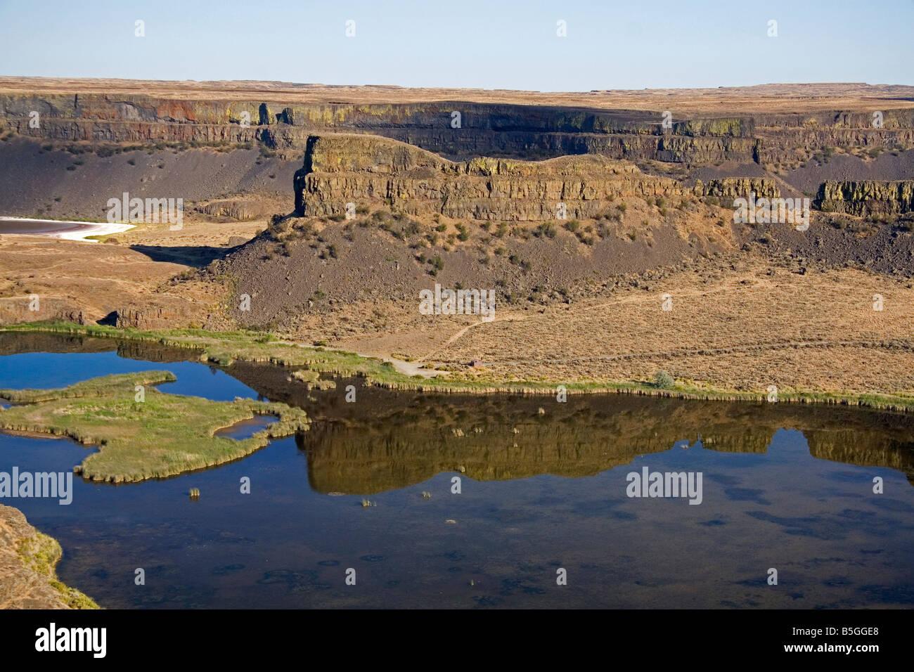 Dry Falls near Coulee City Washington - Stock Image