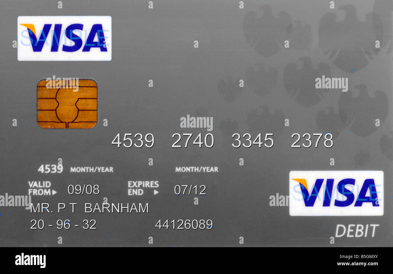 Barclays Bank Debit Card Fake Name and Numbers Stock Photo - Alamy