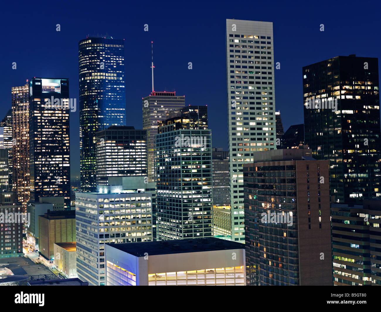 USA Texas Houston skyline at dawn - Stock Image