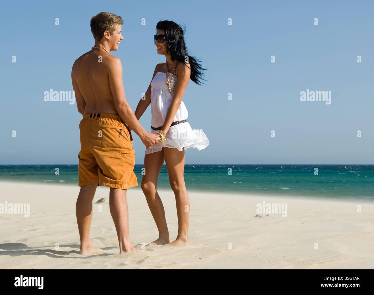 romance on the beach - Stock Image