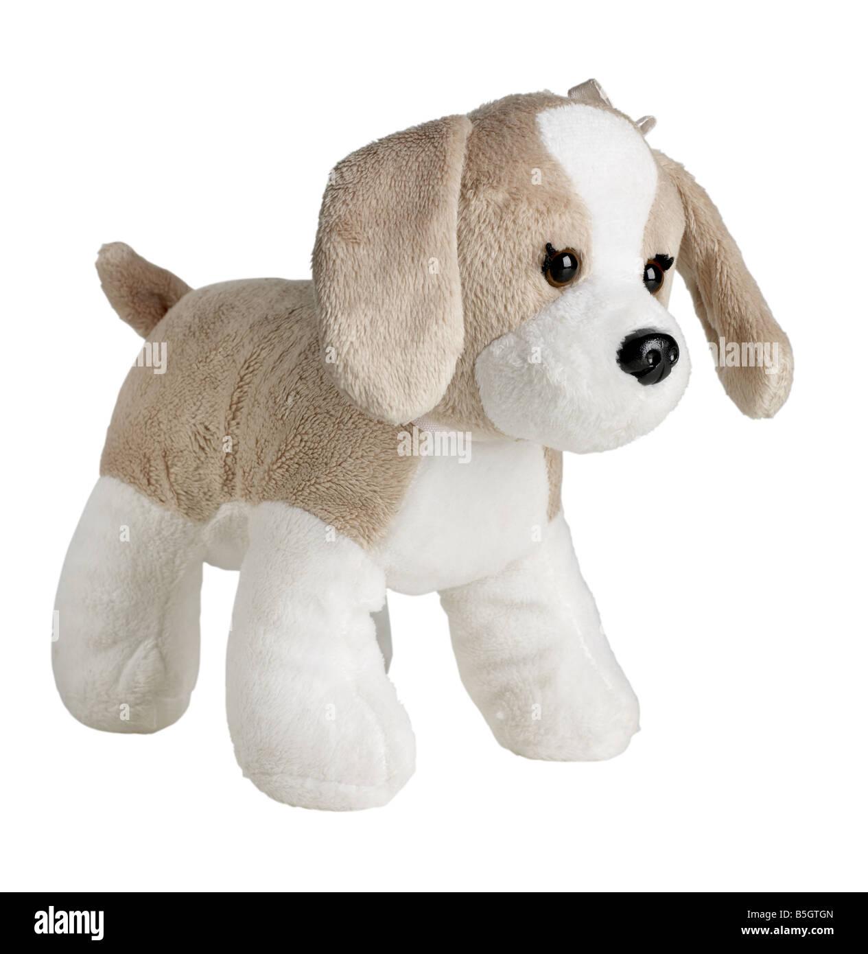 Tan and White Stuffed animal - Stock Image