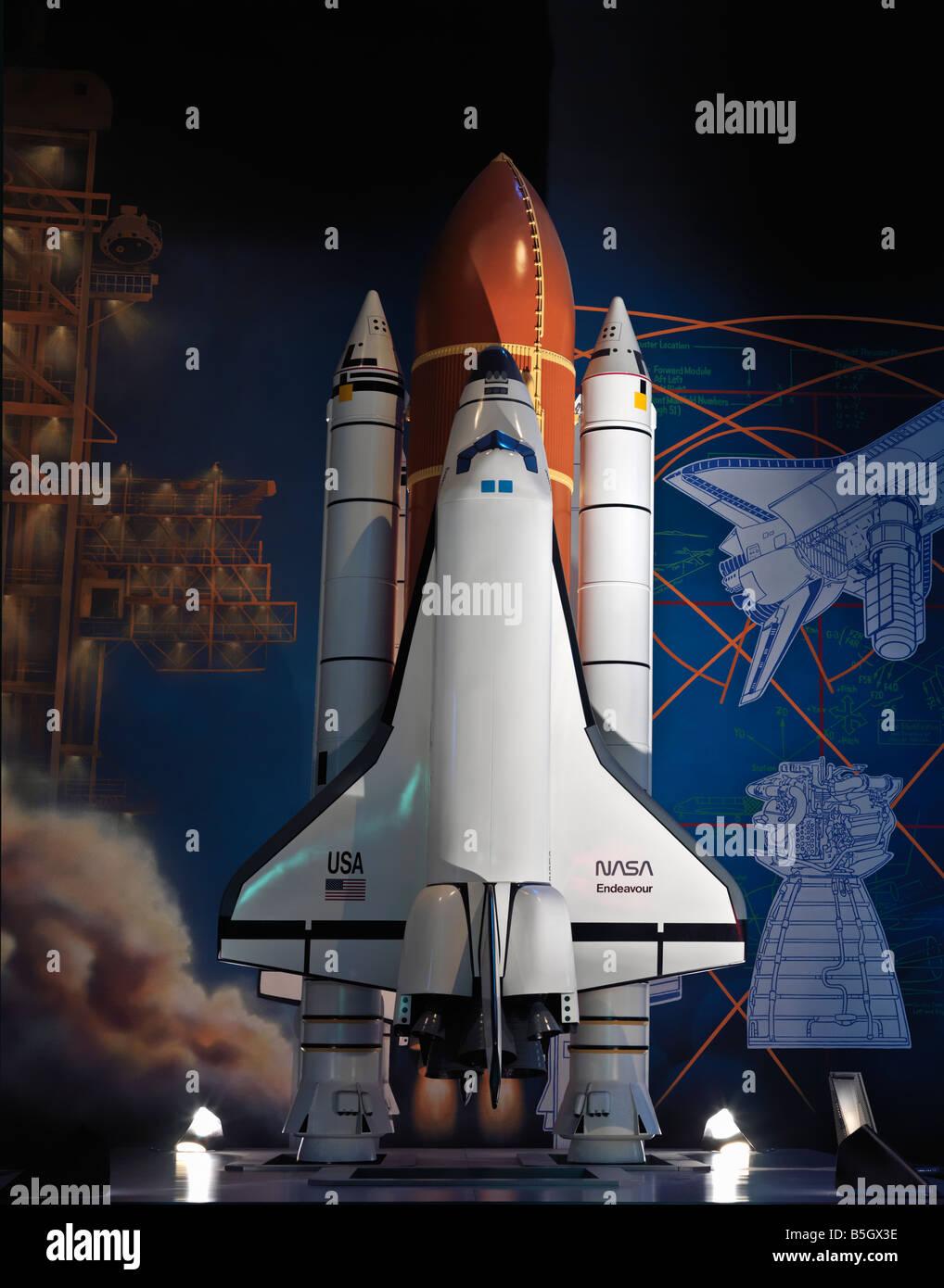 USA,Texas,Houston,Space Center Houston NASA Johnson Space Center display of the Challenger - Stock Image