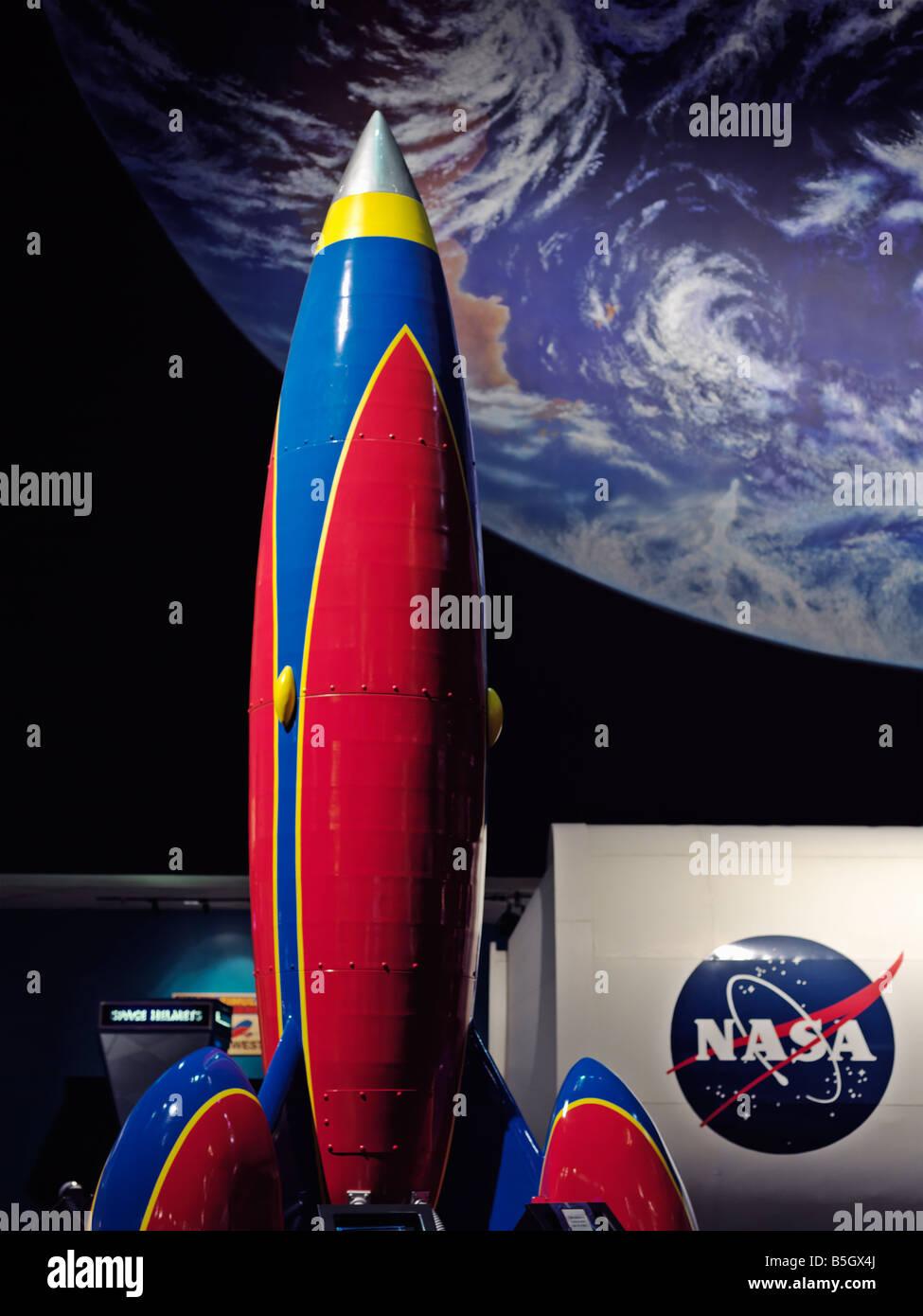 USA,Texas,Houston,Space Center Houston NASA Johnson Space Center display of spaceship - Stock Image