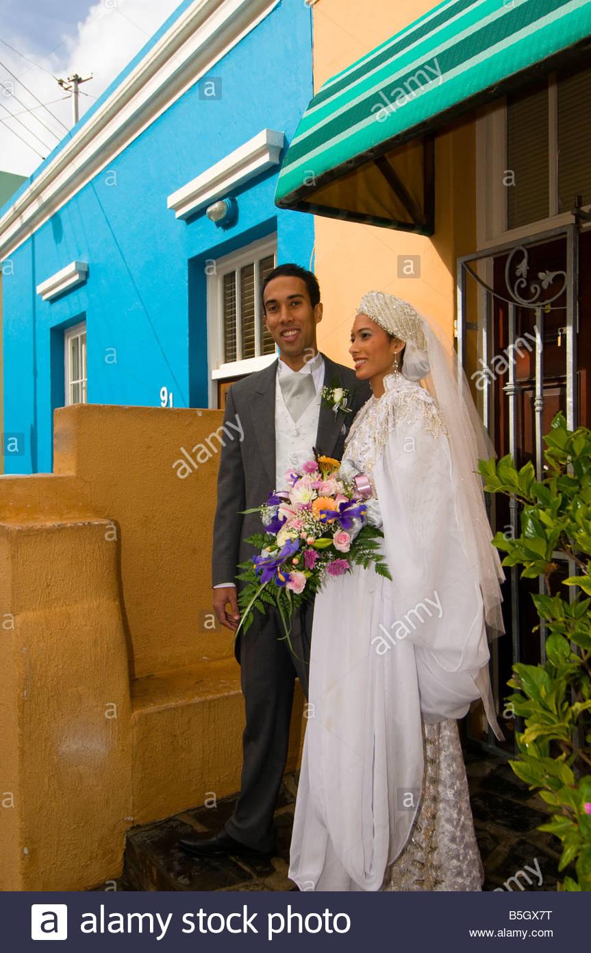 A Muslim wedding on Waalstraat in Bakaap section Muslim