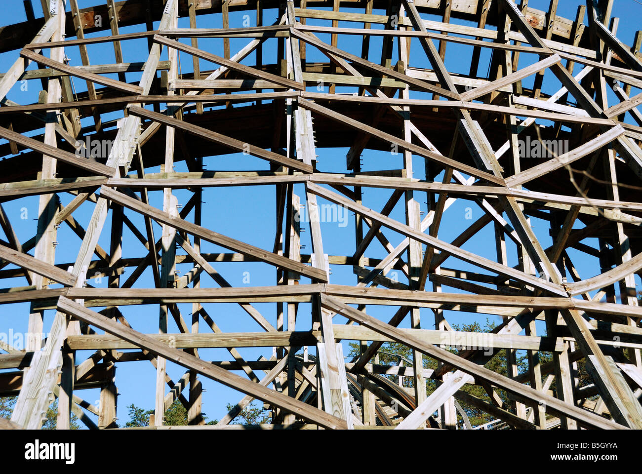 The Thunderhead Roller coaster ride structure Dollywood Pigeon Forge Tennessee - Stock Image