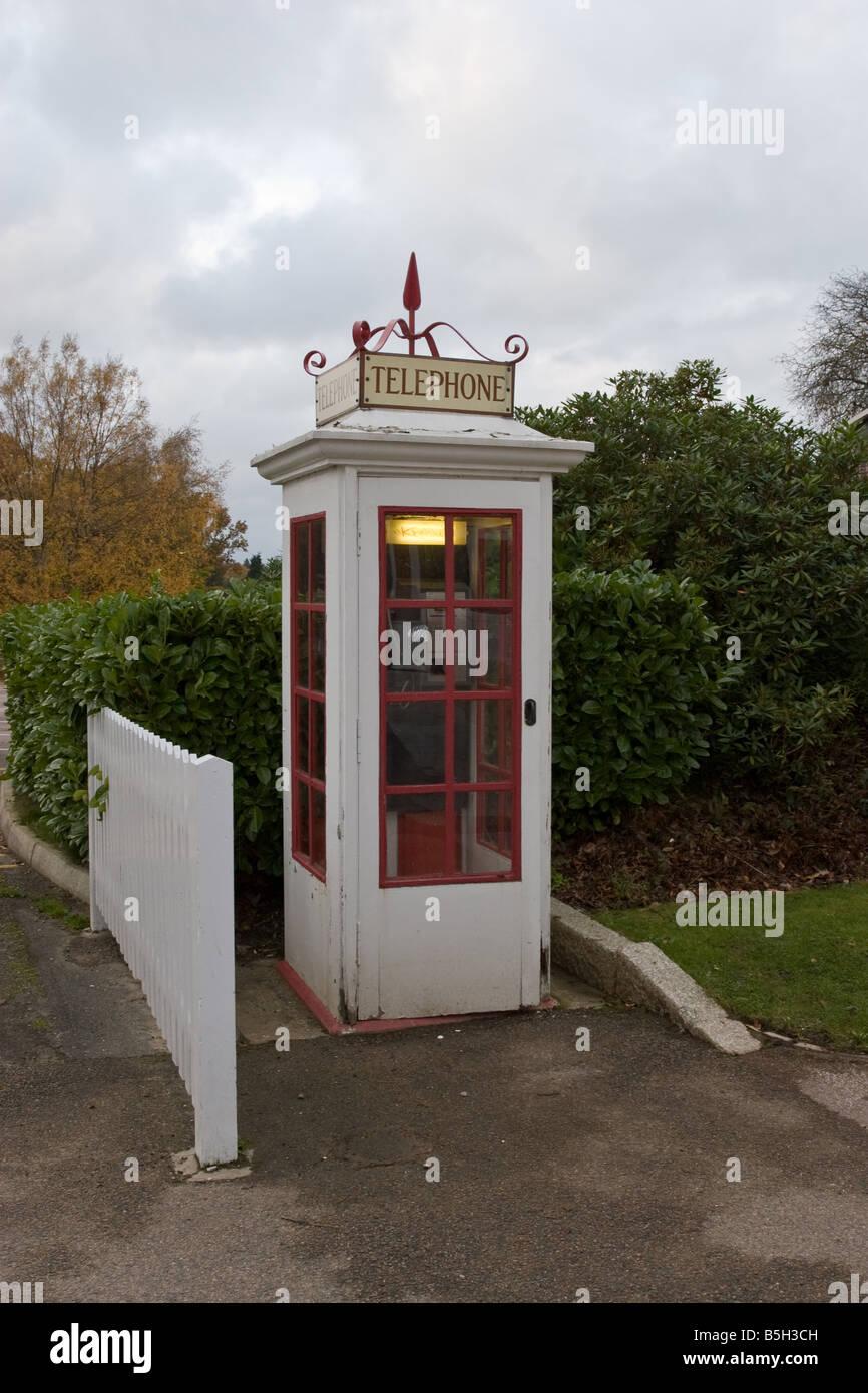 Old fashioned Telephone Box - Stock Image