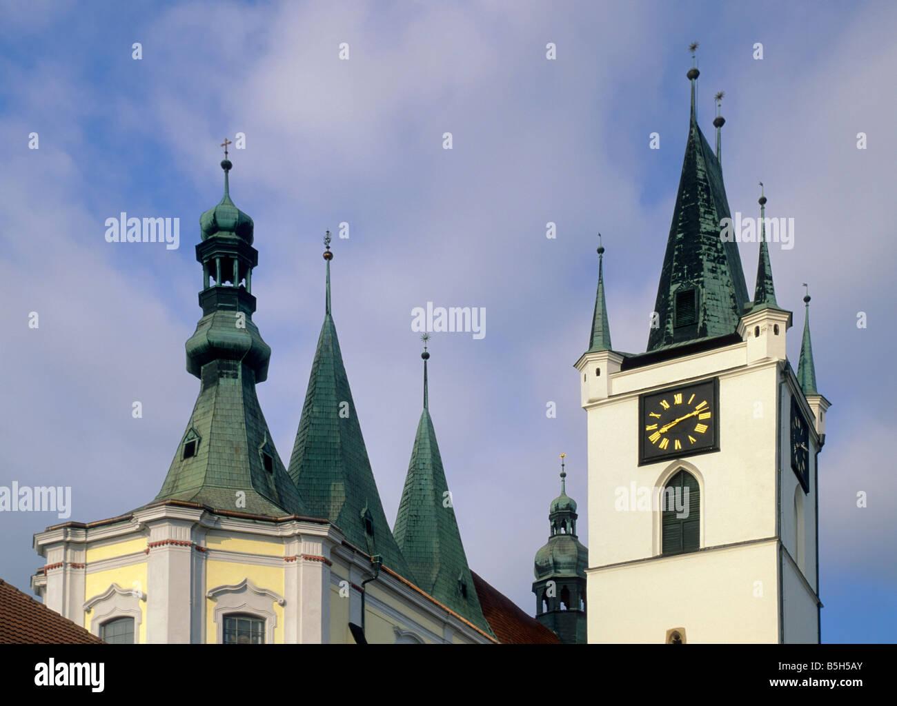 All Saints Church at Mirove namesti in Litomerice North Bohemia Czech Republic - Stock Image