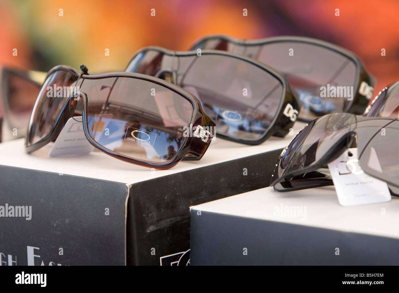 DG sunglasses for sale 30 08 2008 - Stock Image