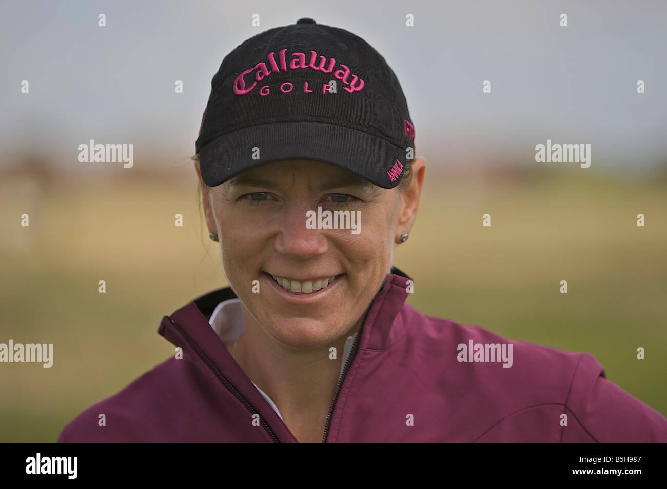 Annika Sorenstam the highest money earner in womens professional golf - Stock Image