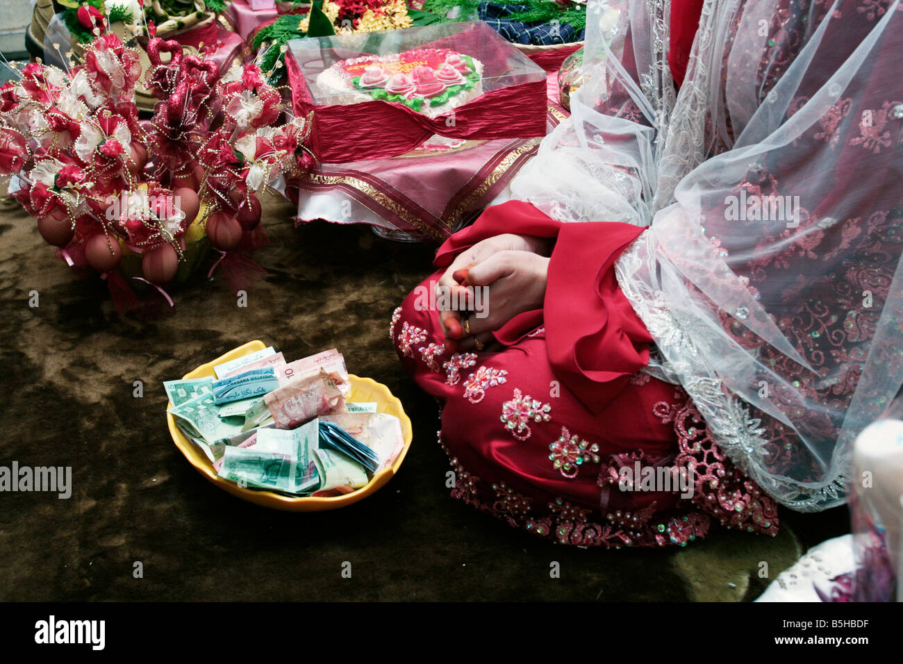 Gift In The Form Of Cash For A Bride In A Malay Wedding Malaysia