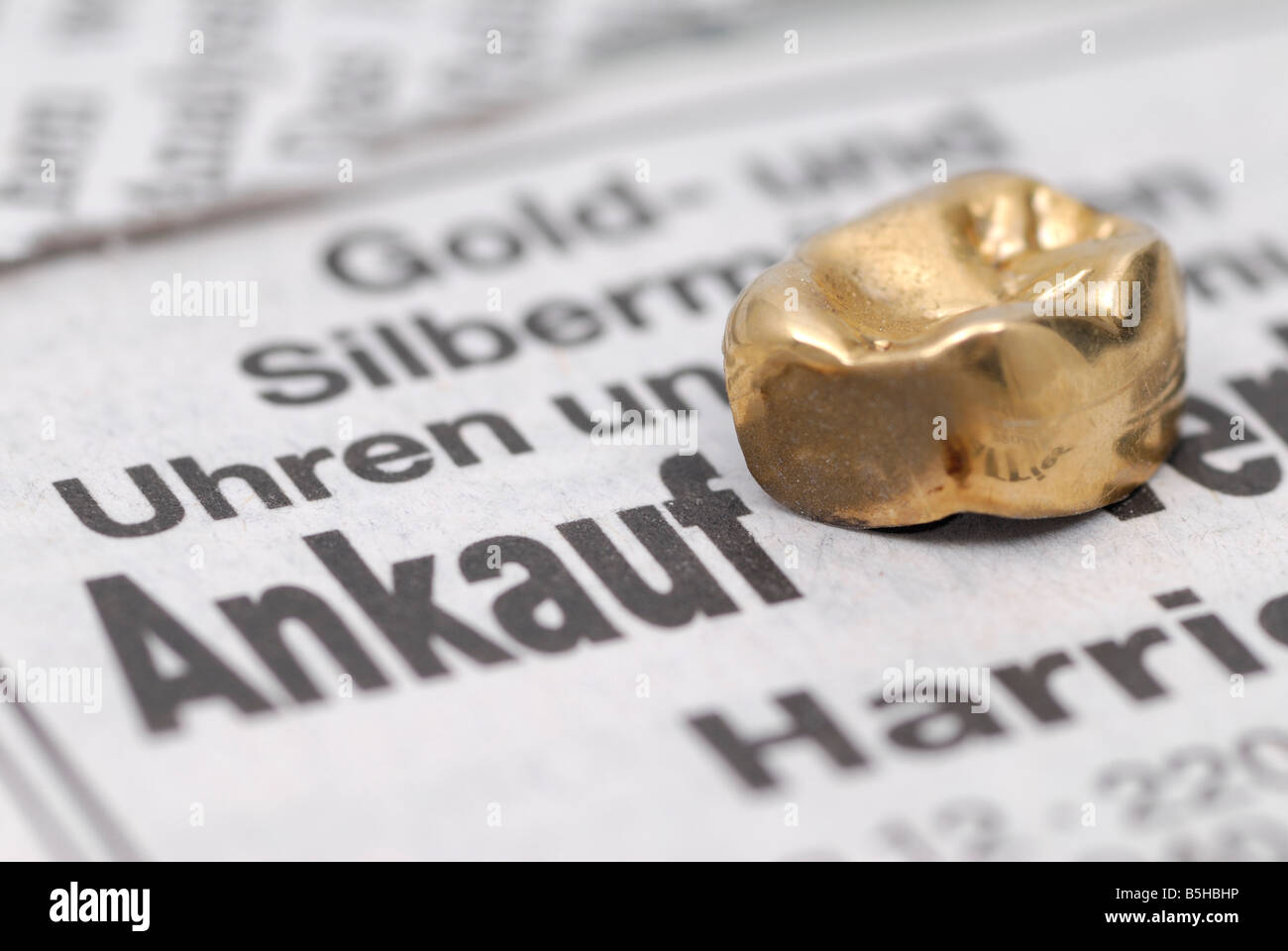 purchase of dental gold - Stock Image