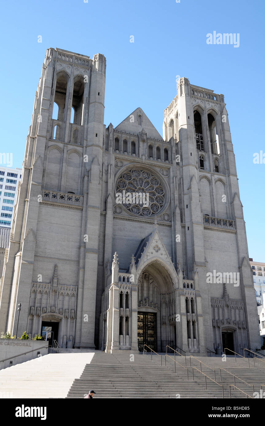 Grace Cathedral, San Francisco California - Stock Image