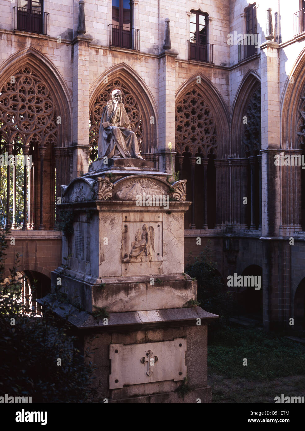 Cloister, Cathedral of Vic, Catalonia Spain - Stock Image