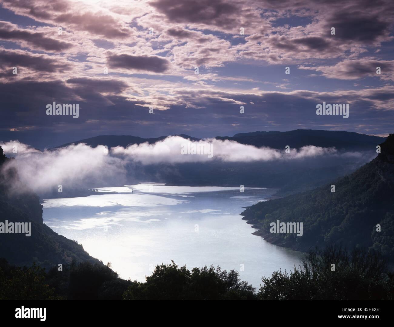 Morning, Vic-Sau Reservoir, Catalonia, Spain - Stock Image