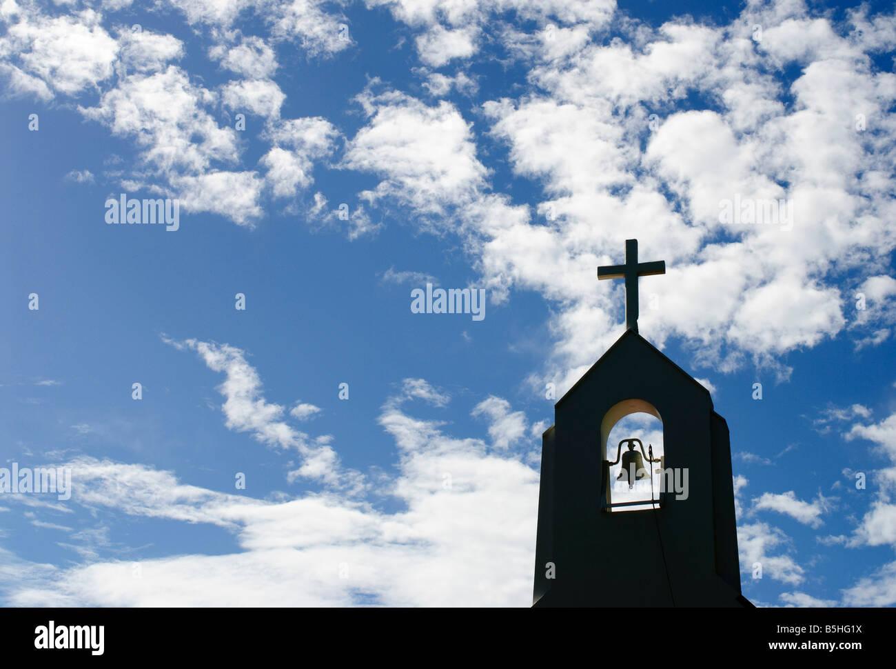 Silhouette Of A Church Steeple On St John In The Us Virgin Islands