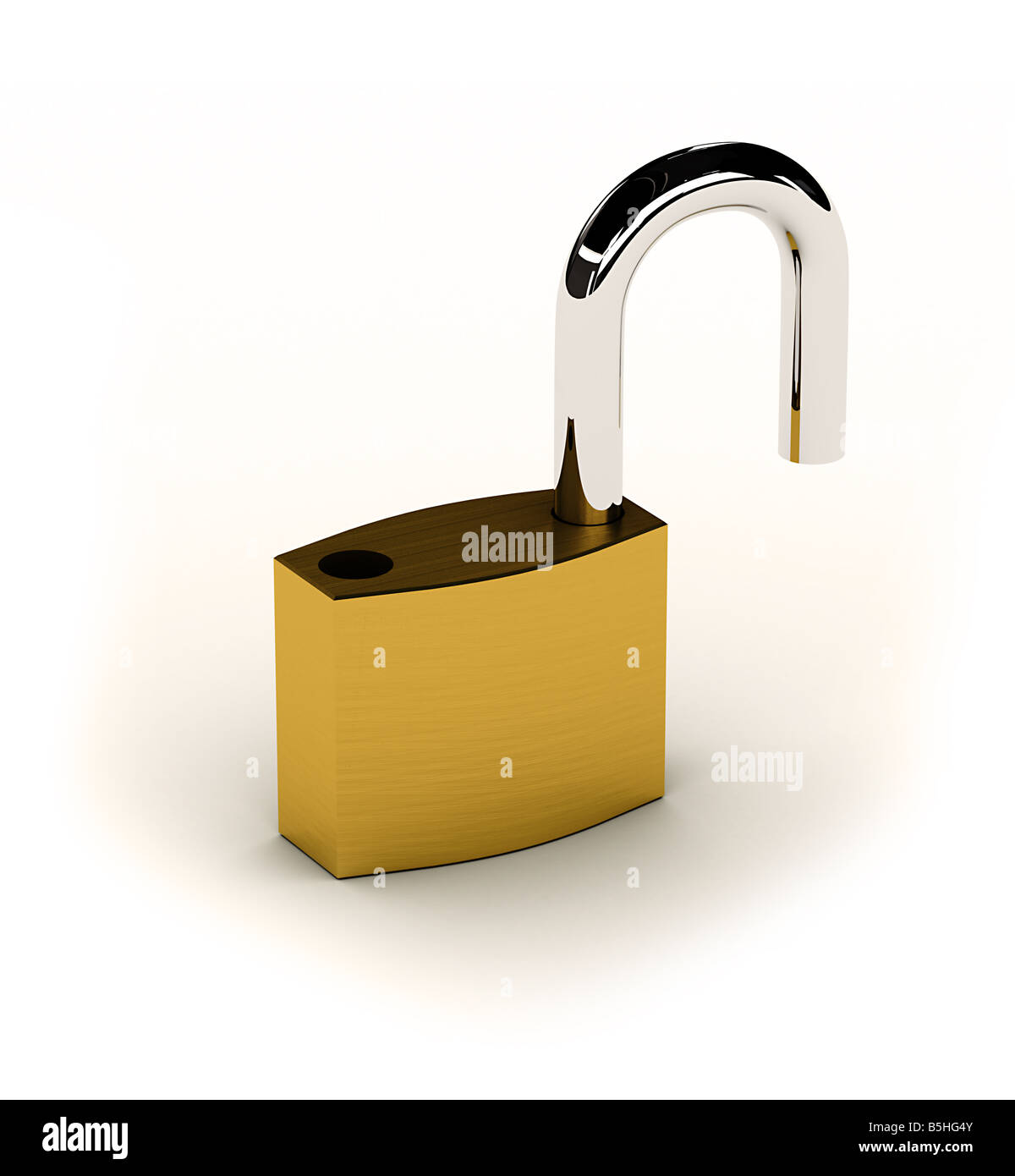 Unlocked - Stock Image