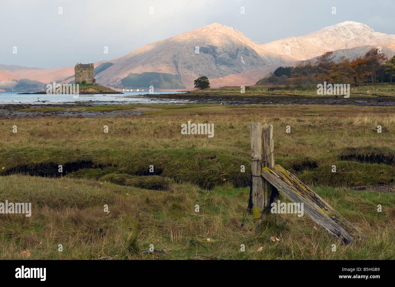 Castle Stalker in Argyll, Scotland - Stock Image