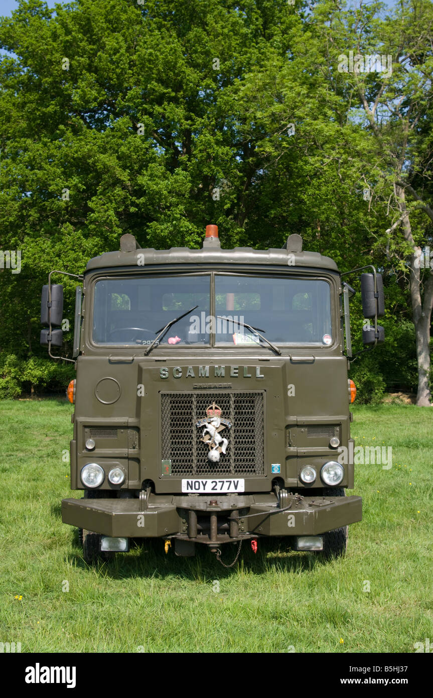 British Army Scammell Lorry UK REME Military Vehicles Stock Photo