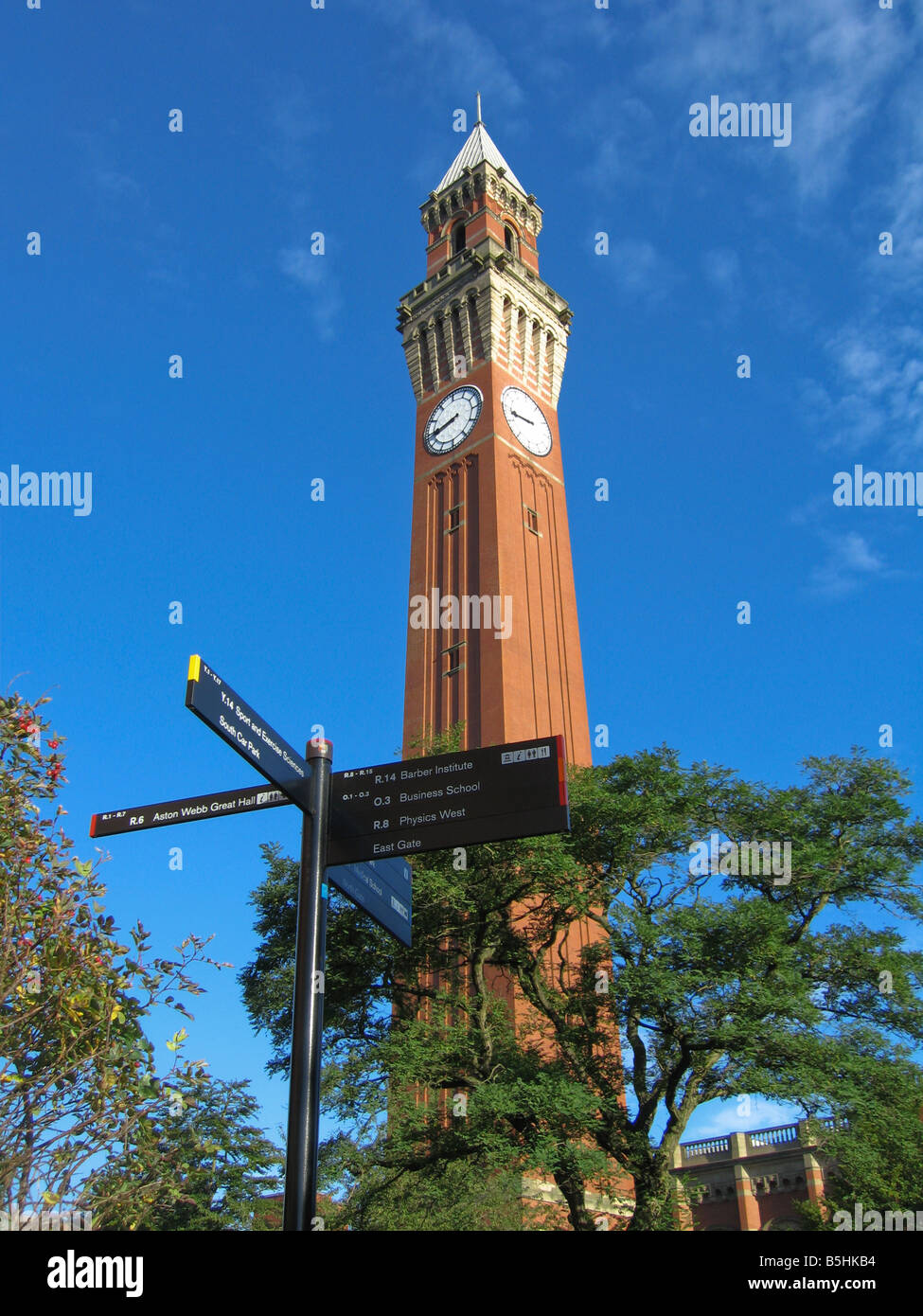 Joseph Chamberlain Memorial Clock Tower Old Joe University of Birmingham UK Stock Photo