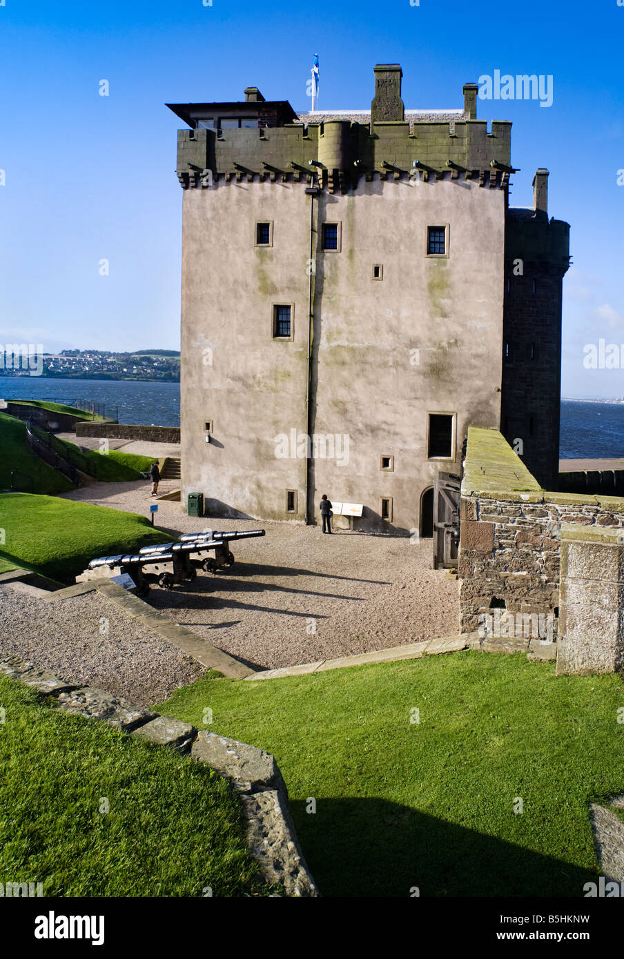 Broughty Ferry Castle, Broughty Ferry, Dundee, Scotland. - Stock Image
