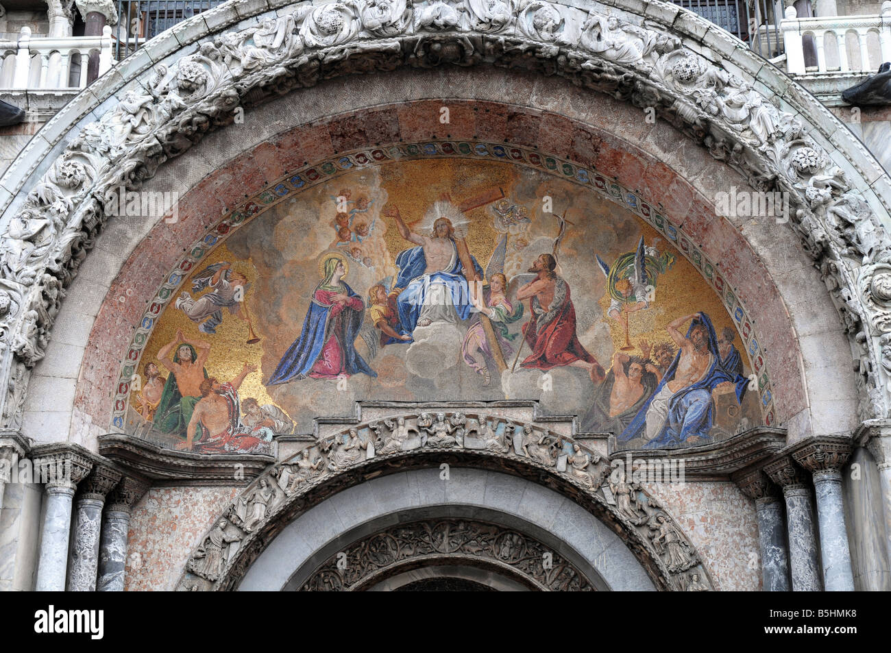 The Last Judgment mosaic above the main central portal at Basilica ...