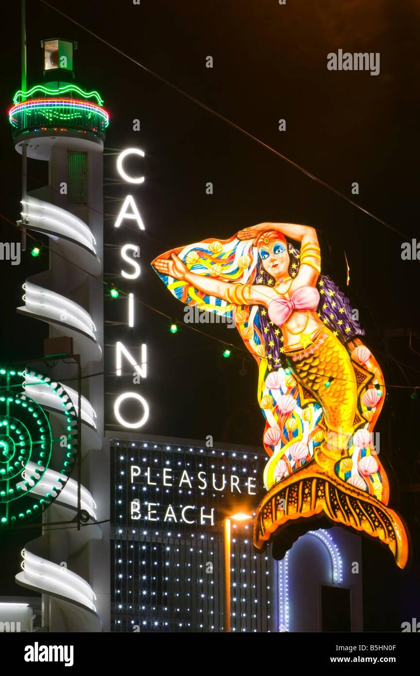 The Pleasure Beach Casino, Blackpool, Lancashire, England, UK. - Stock Image
