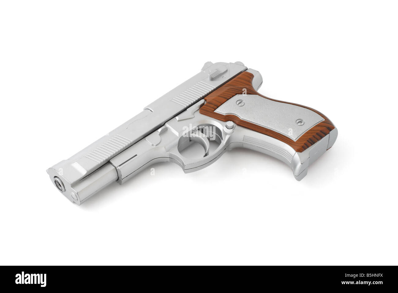 Toy gun isolated on white background - Stock Image
