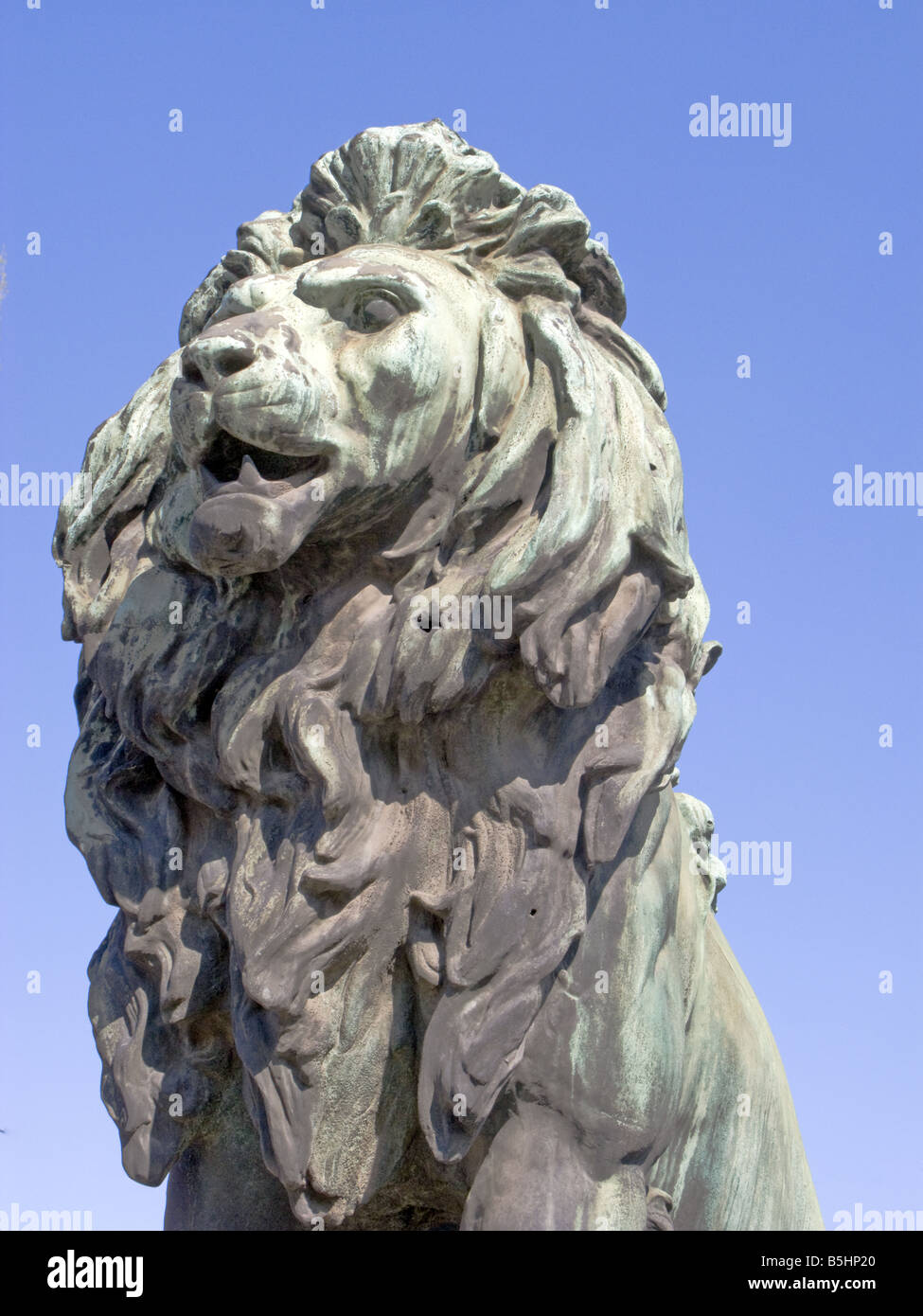 Lion Statue at Lions Bridge. in Sofia the capital of