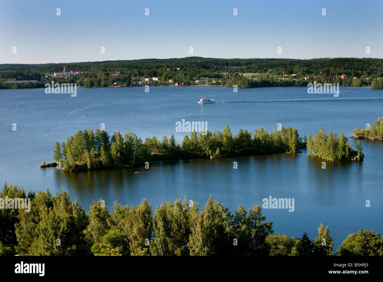 Tampere: Pyynikki Viewpoint: Lake Pyhäjärvi - Stock Image